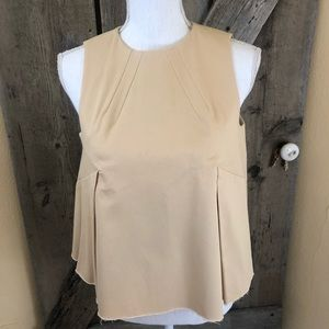 Kendall + Kylie Tan Twill Tent Style Top Medium
